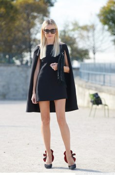 little black capa dress