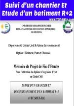 rapport de stage suivi de chantier de construction de r+2