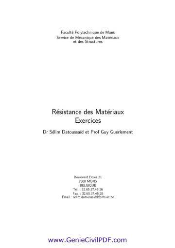 RDM exercices