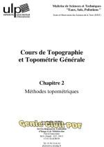 Cours de Topographie et Topométrie Générale : Tome 2