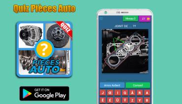 Quiz Pièces Auto : APP ANDROID