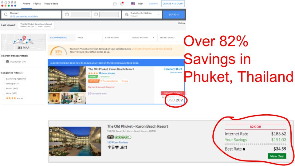 Huge savings on GenieTraveler.com for Phuket, Thailand