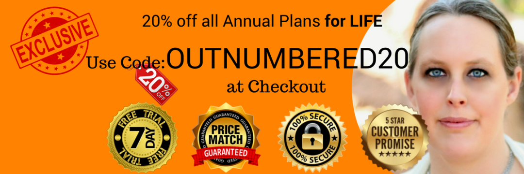 OUTNUMBERED20 coupon/discount code