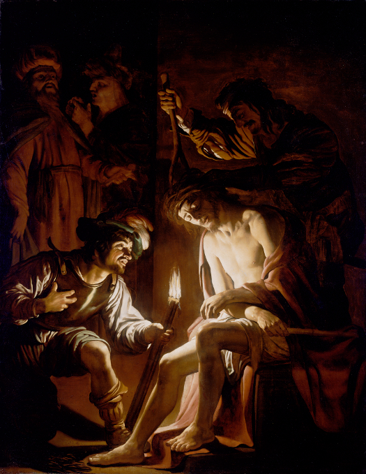 Gerrit van Honthorst (Dutch, 1590 - 1656) Christ Crowned with Thorns, about 1620, Oil on canvas Unframed: 222.3 x 173.5 cm (87 1/2 x 68 5/16 in.) Framed: 254.6 x 204.5 x 10.5 cm (100 1/4 x 80 1/2 x 4 1/8 in.) The J. Paul Getty Museum, Los Angeles