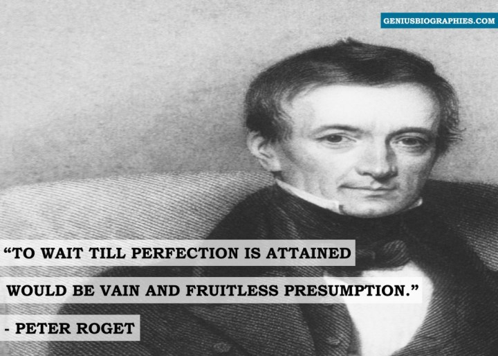 To wait till perfection is attained would be vain and fruitless presumption.