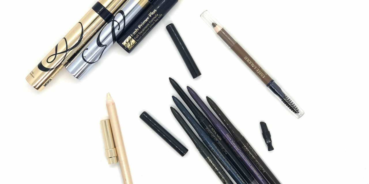 Estee Lauder Double wear Waterproof Eyeliners+Lash Primer Plus+Sumptuous Extreme Lash Multiplying Volume Mascara