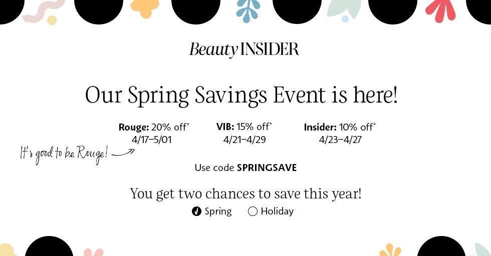 Sephora spring sale 2020