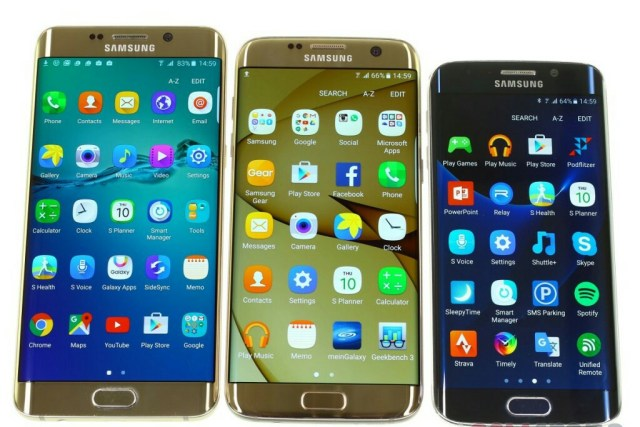 Samsung Galaxy S7 edge display