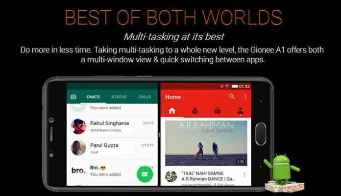 Gionee A1 multi window