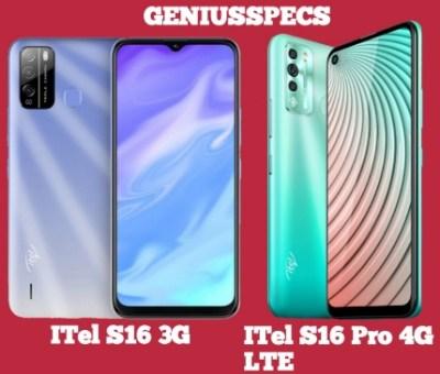 ITel S16, S16 Pro 3G & 4G