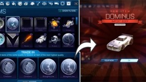 how to trade in items in rocket league
