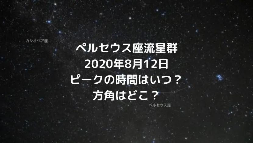 ペルセウス座流星群2020ピークの時間帯はいつ?方角についても【8月12日】