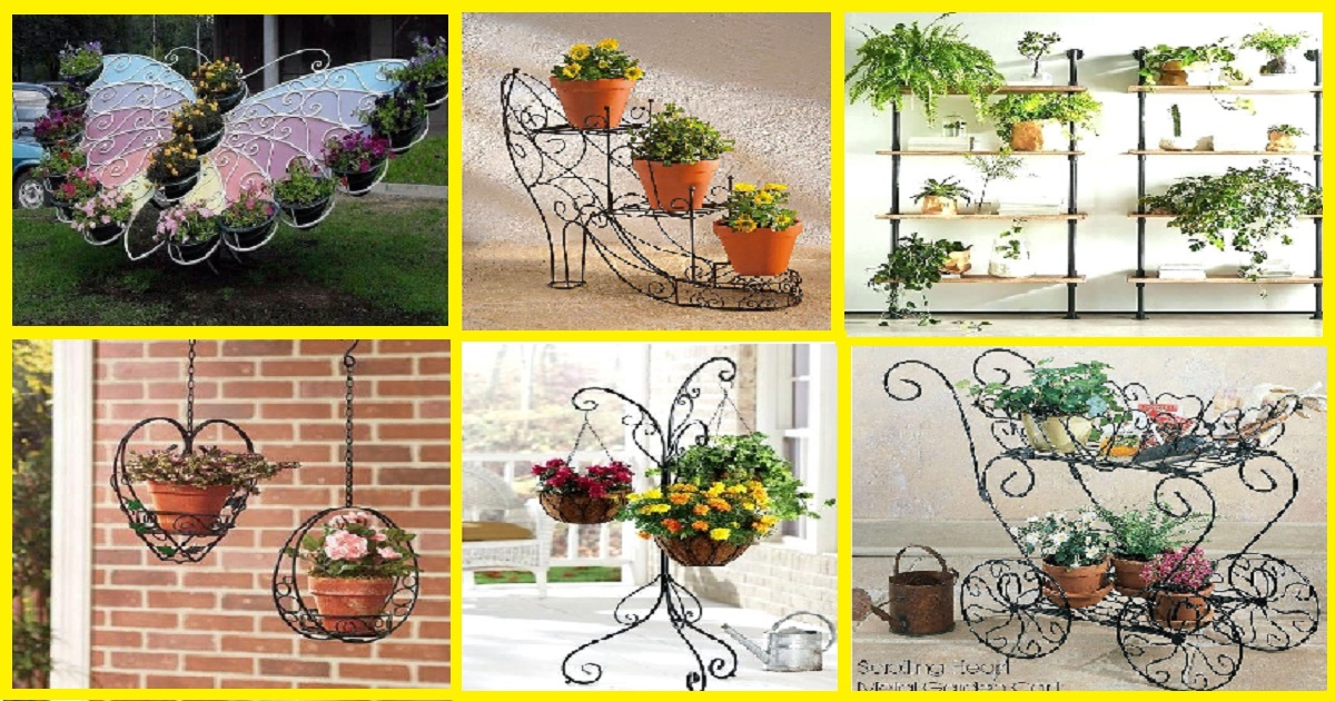 10 Mesmerising Iron Wrought Plant Stand Ideas - Genmice on Iron Stand Ideas  id=54684