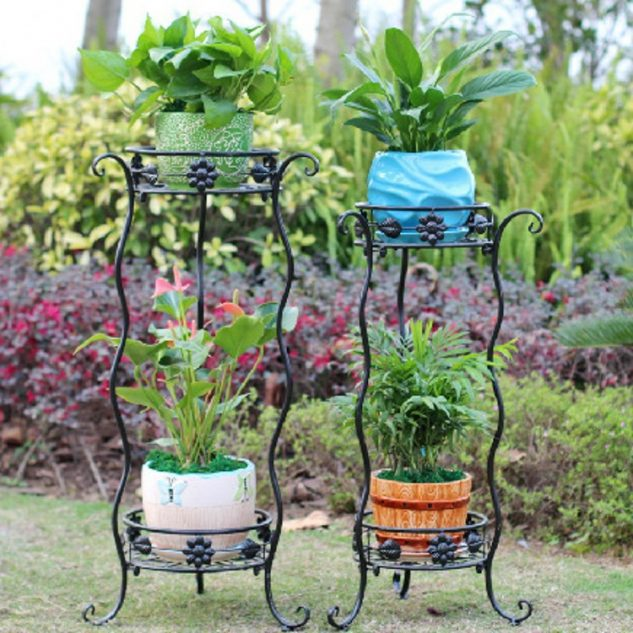 10 Most Amazing Iron Wrought Plant Stand Ideas For Your ... on Iron Stand Ideas  id=79846