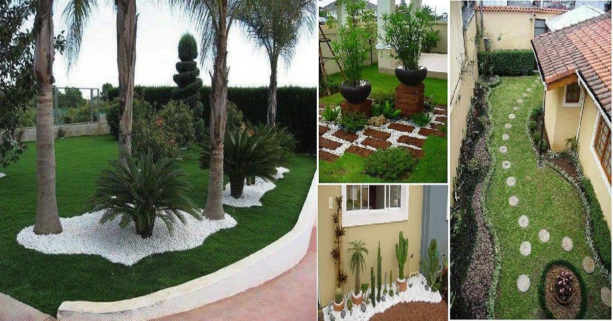 Most Amazing Backyard Pebble Stone Decoration Ideas That ... on Pebble Yard Ideas id=34419
