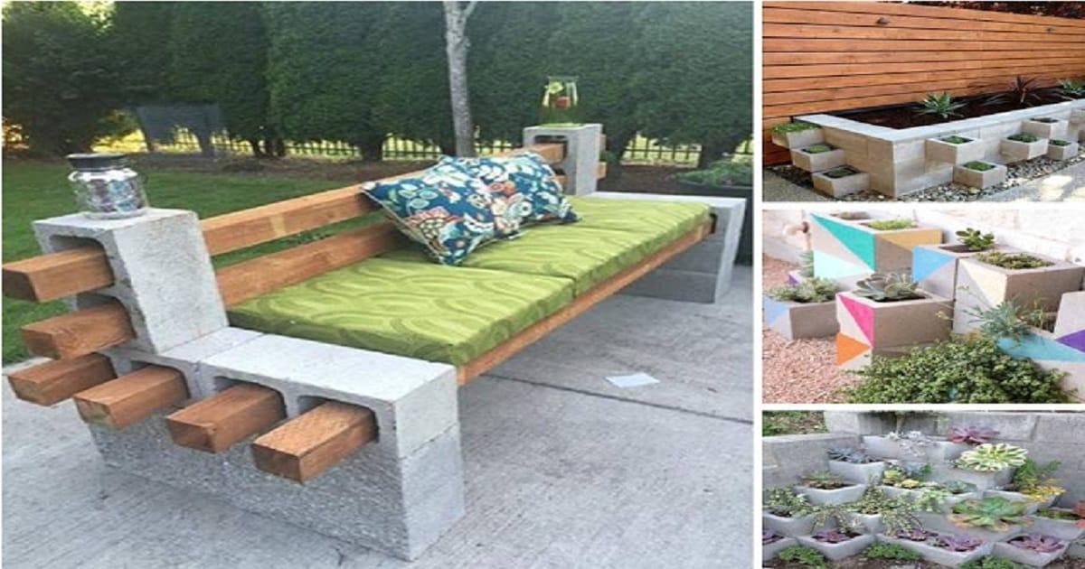 Most Stunning DIY Cinder Blocks Ideas For Amazing Backyard ... on Backyard Cinder Block Wall Ideas  id=42249