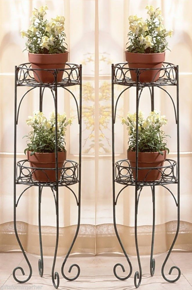 Most Stunning Iron Wrought Plant Stand Ideas That You Will ... on Iron Stand Ideas  id=78933