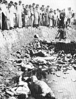 Bengali intellectuals murdered and dumped at dockside in Dacca.