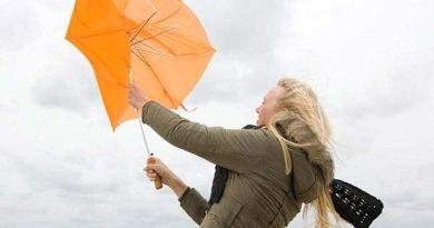 vento ombrello rotto