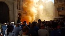 Manifestazione grossisti mercato ittico - foto Bobbio