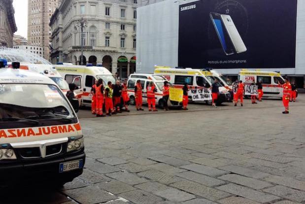 ambulanze, pubbliche assistenze 118 protesta