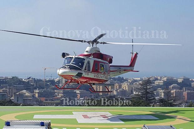 Elicottero Vigili Fuoco : Elicottero vigili del fuoco genovaquotidiana