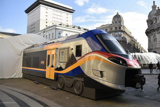 Tappa ligure del roadshow dei nuovi treni Rock e Pop del Trasporto Regionale di Trenitalia.