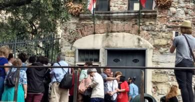Oggi visita con lo storico Bonora alla casa di Colombo e al Chiostro di Sant'Andrea
