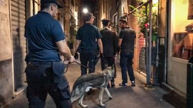 cane carabinieri centro storicoo