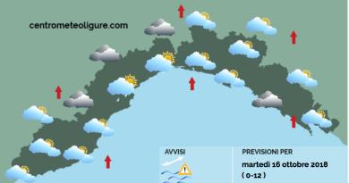 Meteo Limet: tramontana, nuvole, sgocciolii e locali piovaschi