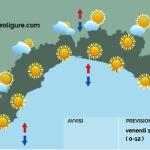 Meteo Limet: bel tempo e temperature superiori alla media