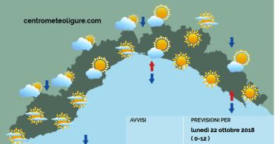 Meteo Limet: sereno con qualche nuvola al mattino, soleggiato nel pomeriggio