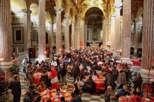 pranzo di Natale, Sant'Egidio - basilica dell'Annunziata