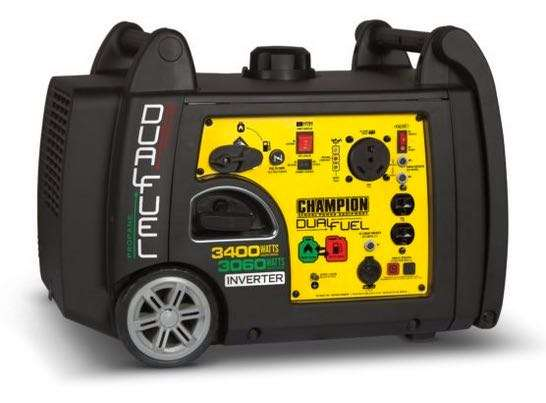 Champion 3400W dual fuel inverter generator