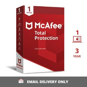 McAfee Total Protection – 1 User, 3 Year Activation Key (No CD)