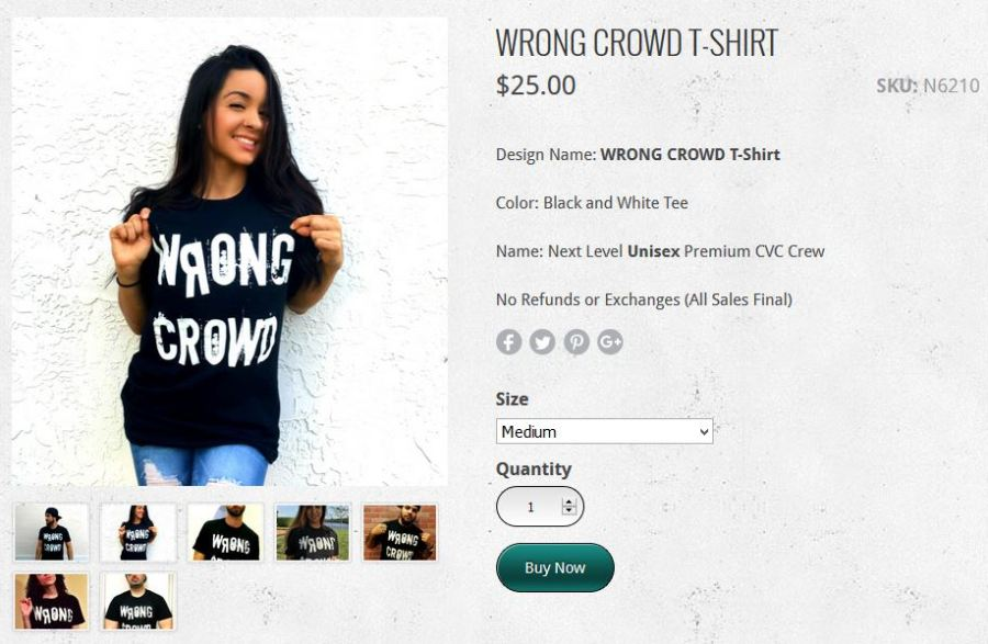 WRONG CROWD Clothing