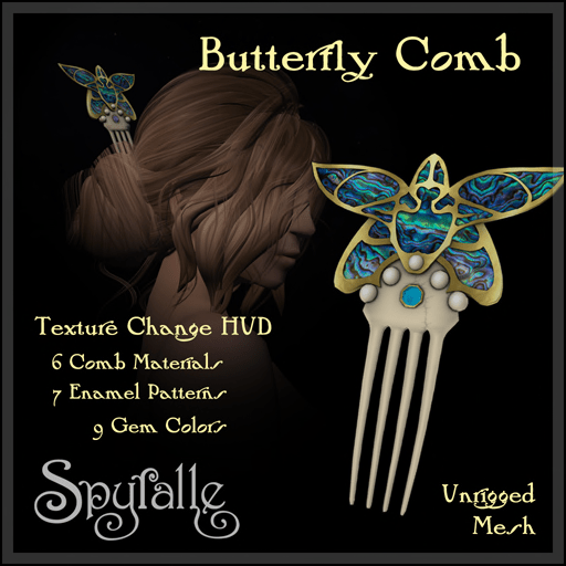 Spyralle - Butterfly Hair Comb