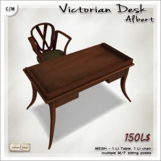AD Victorian Desk Albert