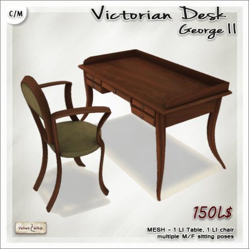 AD Victorian Desk George II