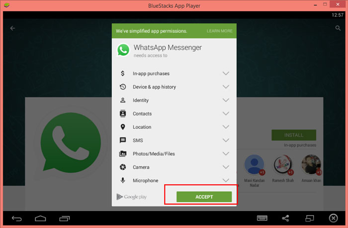 WhatsApp PC download Windows8.1. Click on the time @ right bottom >> you  will see like below