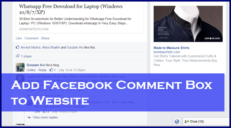 How to Add Facebook Comment Box to HTML Website