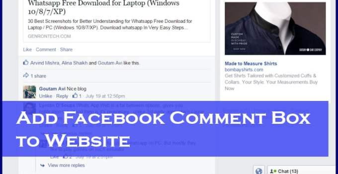 Facebook Comment Box