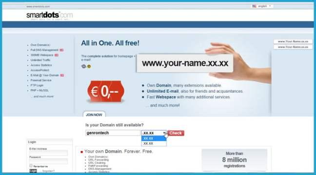 Get Free Domain Name