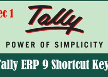 Tally ERP 9 Shortcut Keys