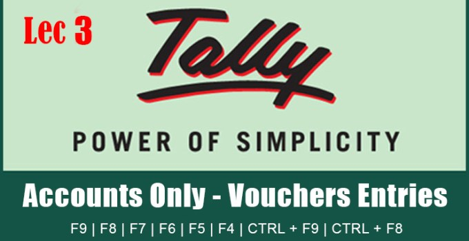 How to Pass Journam Entries in Tally
