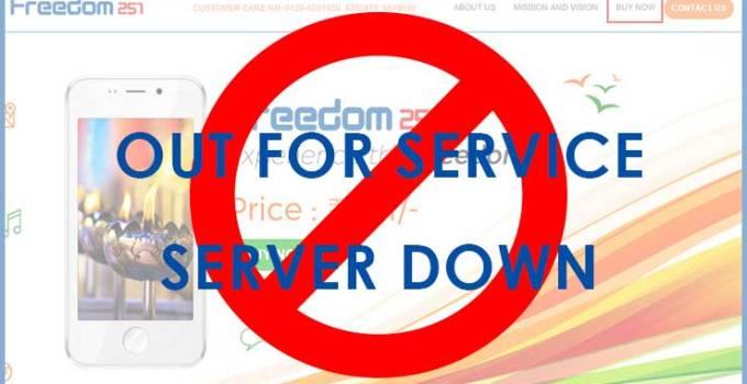 Freedom 251 Server down