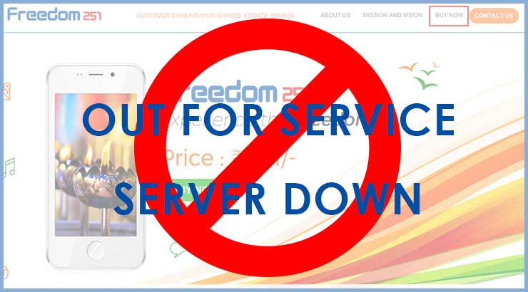 Freedom 251 Server down