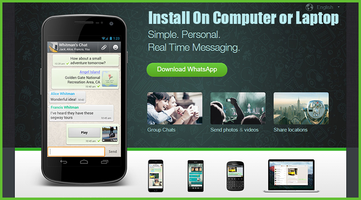 Install Whatsapp for PC/Laptop on Windows & MAC