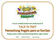Media Invite for Robin Padilla Presscon
