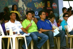 Councilor Abing, Mayor Jun, Senator Mar, ex-Congresswoman Lu, DepEd Super Lariosa